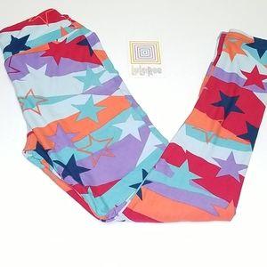 Lularoe Multi Color Star Leggings Tween